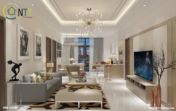 Mẫu thiết kế nội thất căn hộ chung cư anh Tuấn