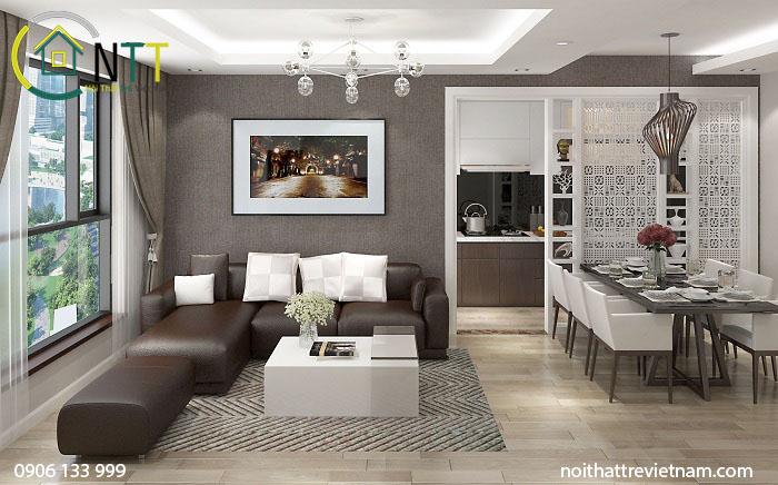 Mẫu thiết kế nội thất chung cư 80,5 m2