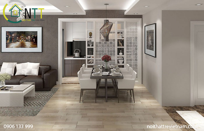 Nội thất chung cư theo phong khách hiện đại