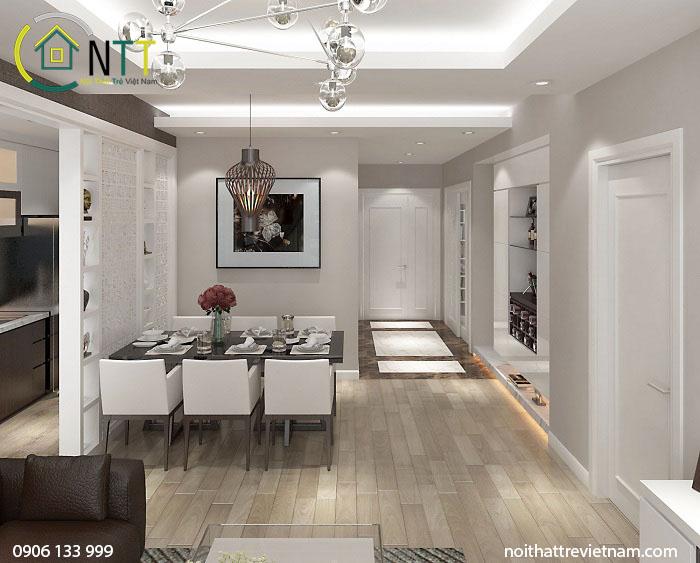 Với diện tích 80m2, lựa chọn phong cách hiện đại mang đến không gian sống tiện nghi và thoải mái