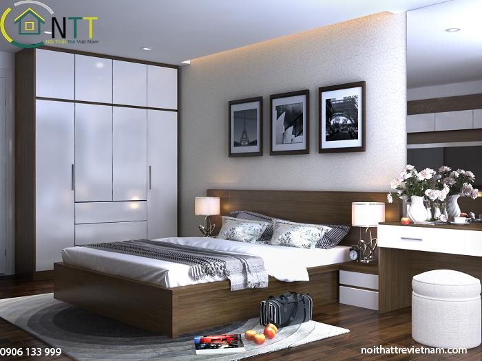 Phòng ngủ master nhà chị Thủy Tiên