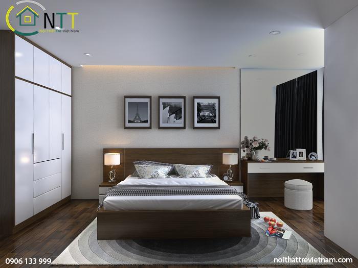  Phòng ngủ gọn gàng với đầy đủ công năng sử dụng