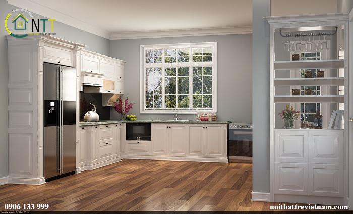Thiết kế tủ rượu tăng giá trị thẩm mỹ cho không gian bếp
