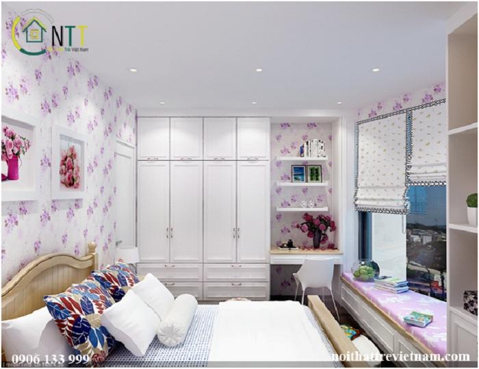 Sử dụng giấy dán tường giúp không gian sinh động và đẹp mắt hơn