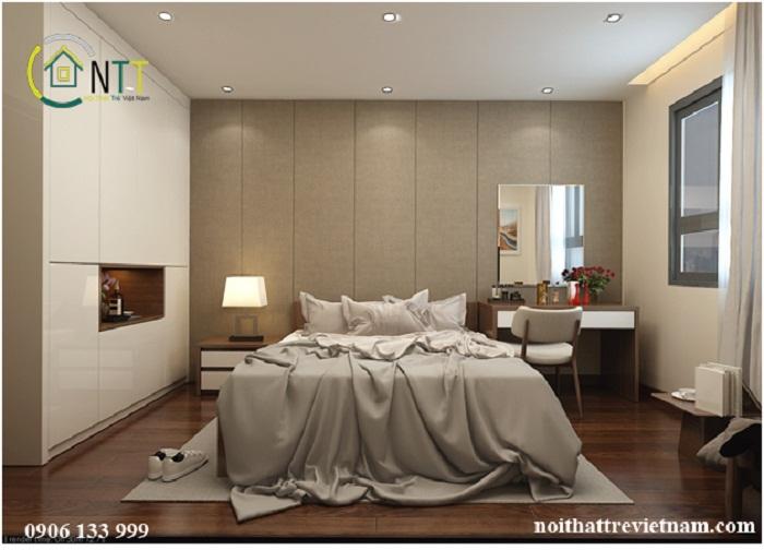 Ảnh 3: Cách phối hợp màu sắc và ánh sáng cho phòng ngủ 15m2 theo phong cách hiện đại