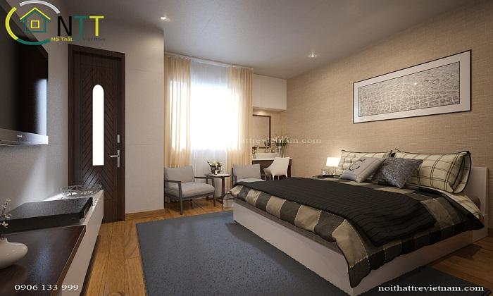 Mẫu thiết kế nội thất phòng ngủ 20m2 theo phong cách thiết kế hiện đại
