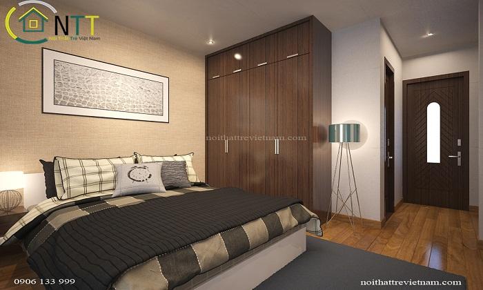 Phòng ngủ sang trọng, lịch lãm qua cách phối hợp màu sắc