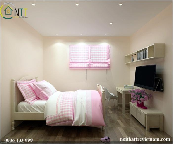 Phòng ngủ bé gái với theo phong cach hiện đại