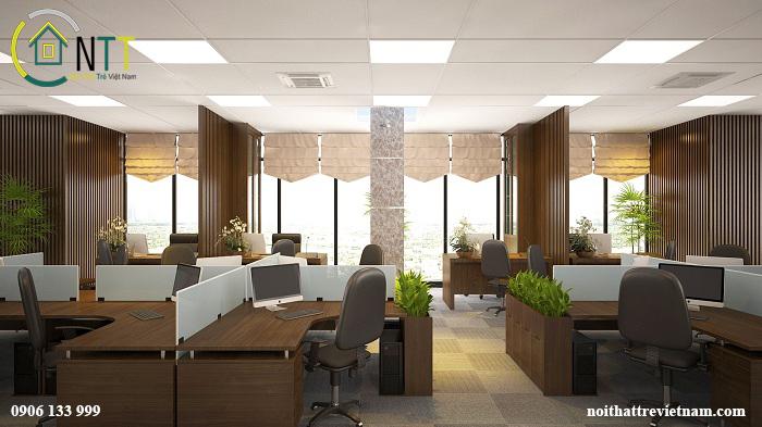Mẫu thiết kế nội thất phòng nghiệp vụ công ty Dệt Bảo Minh