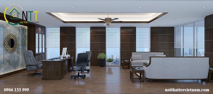 Mẫu thiết kế nội thất phòng tổng giám đốc  công ty CP Dệt Bảo Minh