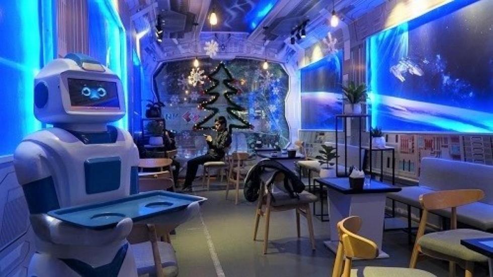 Thiết kế nội thất quán cafe Robo