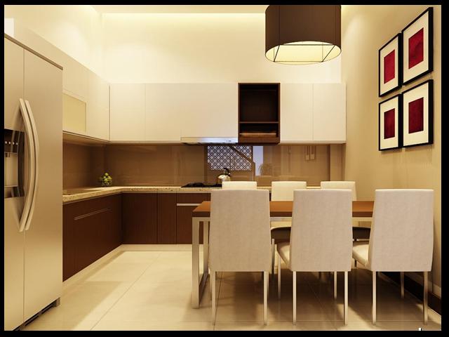 Lựa chọn màu sắc thích hợp khiến cho không gian phòng bếp trở nên thoáng đãng hơn