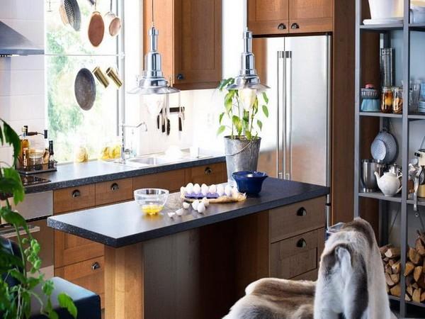 Đảo bếp chữ I nhỏ xinh cho phòng bếp 10m2