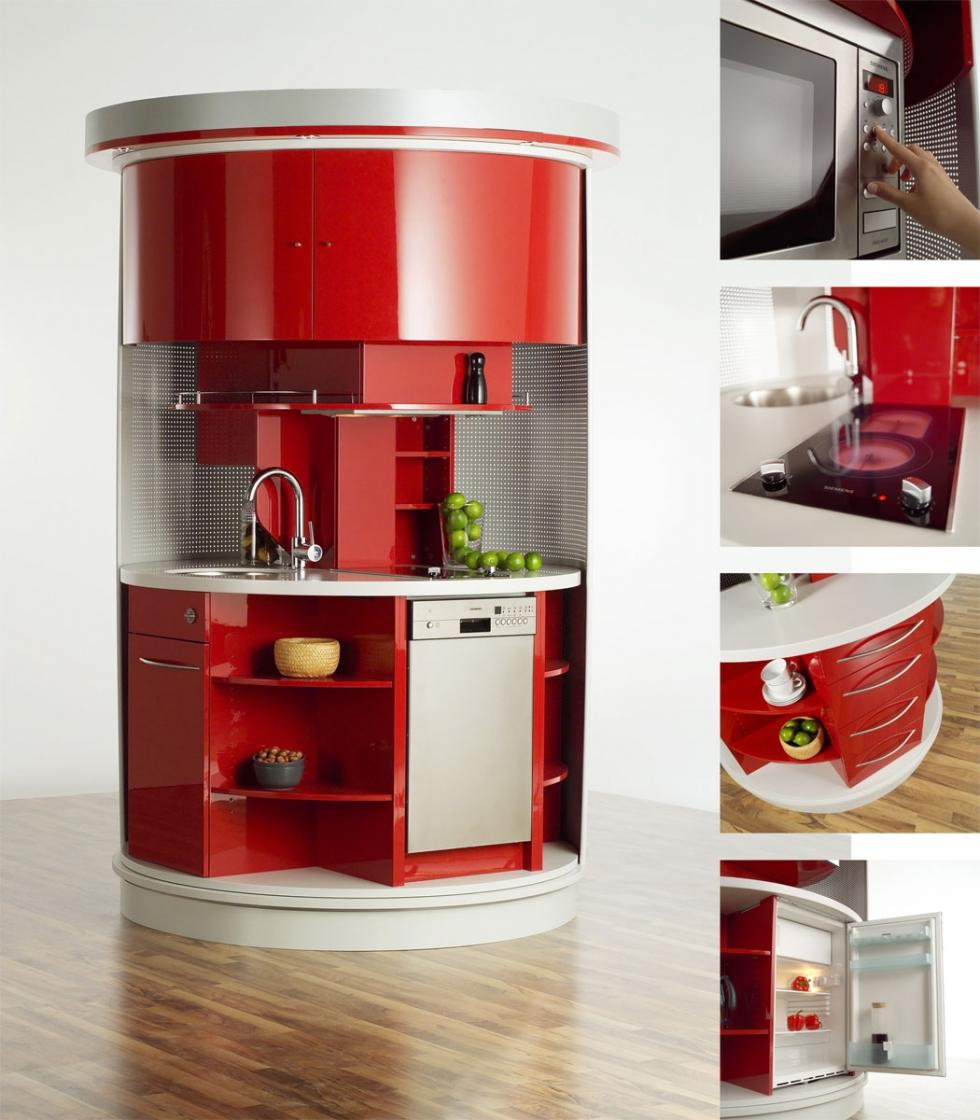 Dùng nội thất bếp thông minh tiết kiệm diện tích