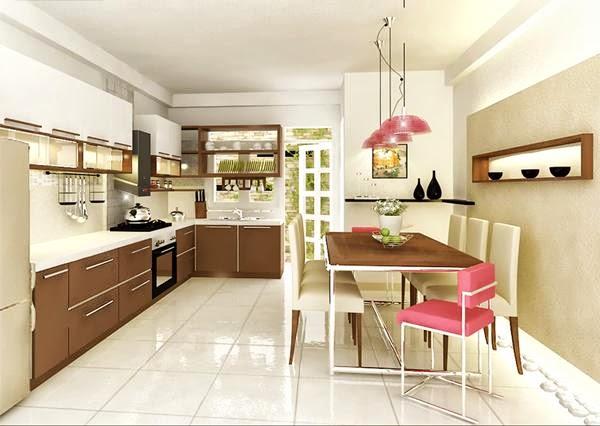 Thiết kế nội thất phòng bếp nhà ống đẹp
