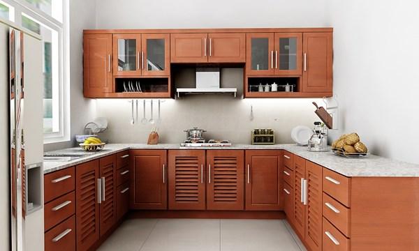 Mẫu thiết kế nội thất phòng bếp bằng gỗ
