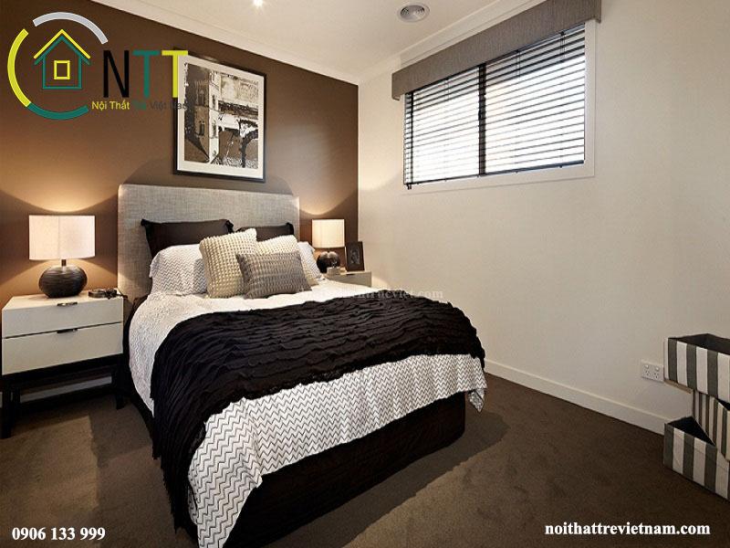 Mẫu thiết kế nội thất phòng ngủ nhà phố 2 tầng