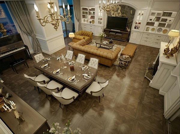 phong cách thiết kế nội thất nhà phi thanh vân