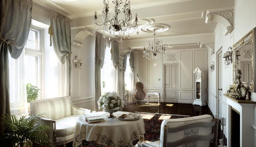 phong cách thiết kế nội thất cổ điển cho nhà ở 1