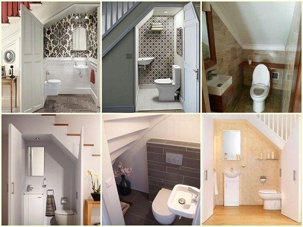 Có nên làm nhà vệ sinh dưới cầu thang