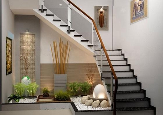 thiết kế gầm cầu thang cho nhà ống