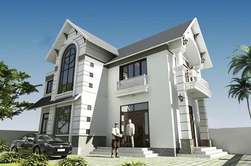  Mẫu nhà 2 tầng mái thái đơn giản