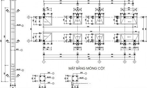 Bản vẽ kết cấu móng nhà cấp 4