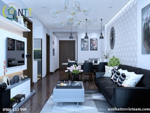 Mẫu bàn gỗ phòng khách cho chung cư hiện đại
