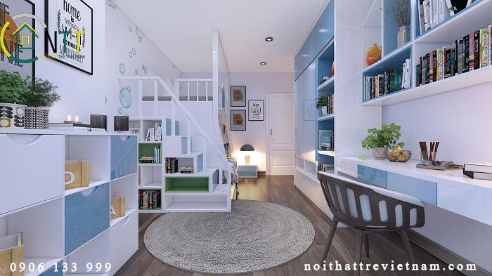  Nội thất phòng ngủ trẻ em chung cư 70m2