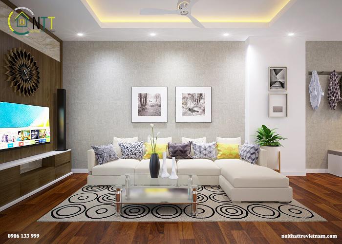 Cách bố trí nội thất căn hộ 70m2 của chị Hương – Tam Trinh