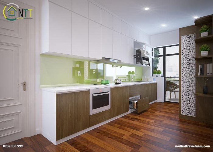 Nội thất phòng bếp nhà chị Hương