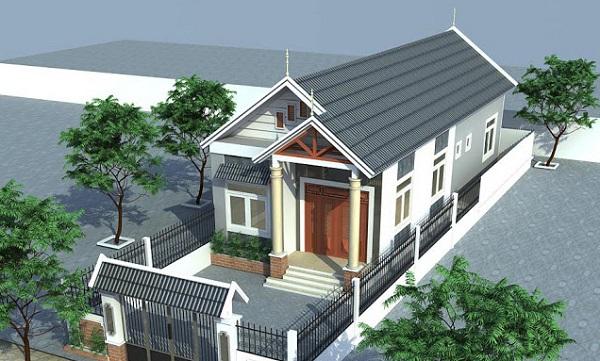 Mặt tiền ngôi nhà cấp 4 mái thái 5x20