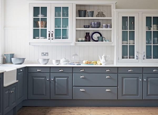 Nội thất phòng bếp trong mẫu nhà cấp 4 đơn giản