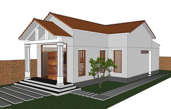 mô hình 3d mẫu nhà cấp 4 nông thôn