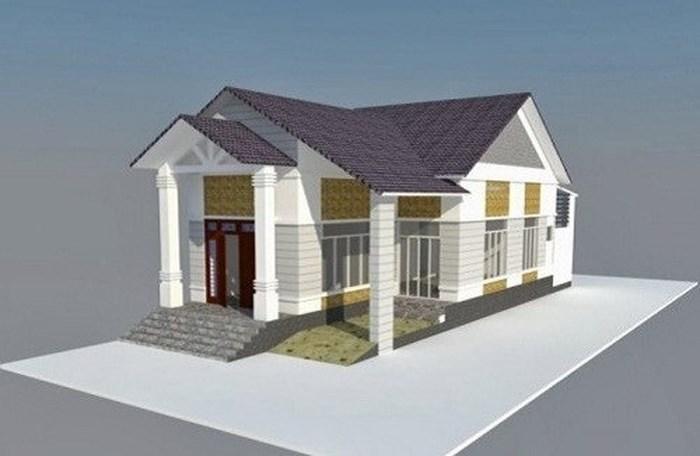 mô hình 3d hướng dẫn thiết kế nhà cấp 4