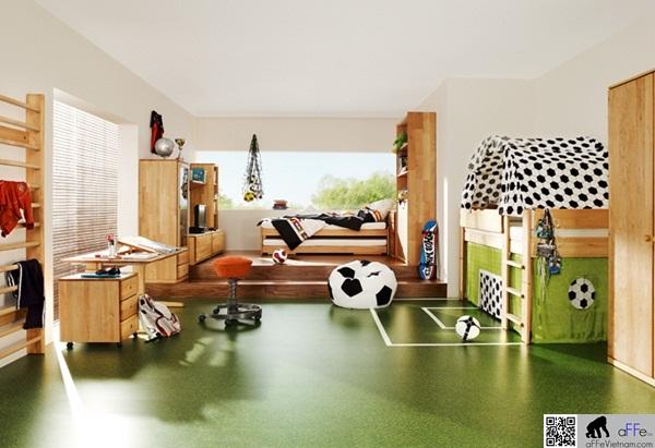Phòng ngủ mà bất kì fan bóng đá nào cũng mơ ước