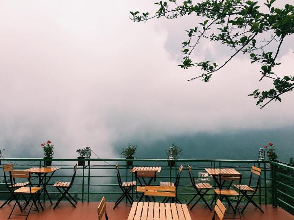 Ẩn mình trong làn sương trên đỉnh núi