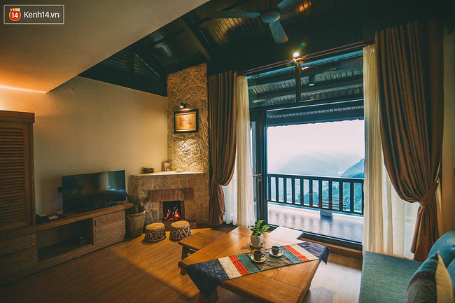 Lò sưởi ấm cúng được đặt trong mỗi căn biệt thự ở Sapa Jade Hill
