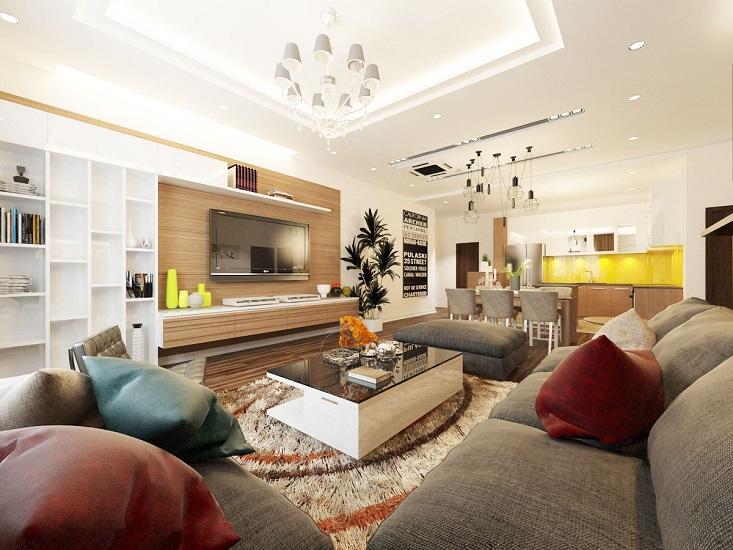 Phòng khách mang phong cách hiện đại, trẻ trung