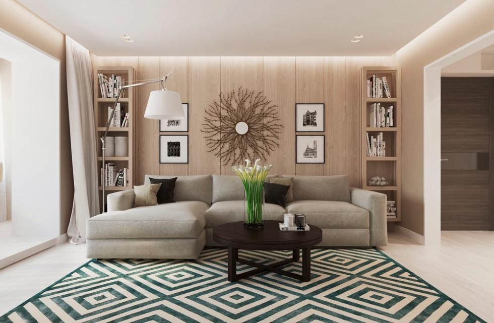 Thiết kế nội thất hiện đại mang phong cách ấm cúng