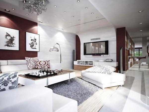Phòng khách hiện đại của chung cư cao cấp