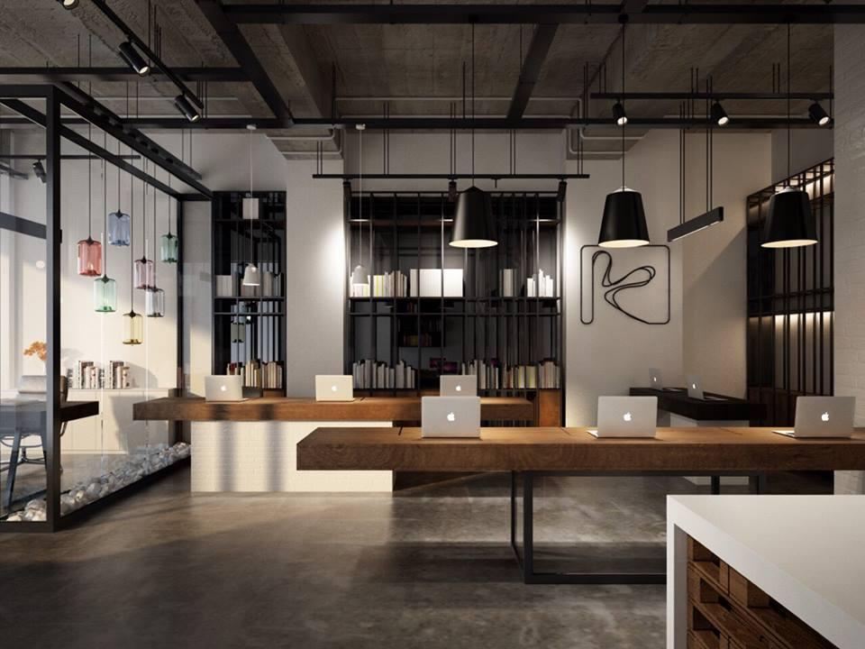 Phòng làm việc được thiết kế theo phong cách hiện đại