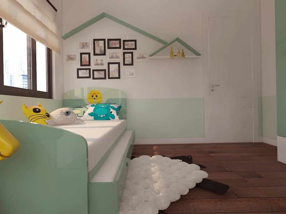 Phòng ngủ trẻ em tinh tế trong từng chi tiết