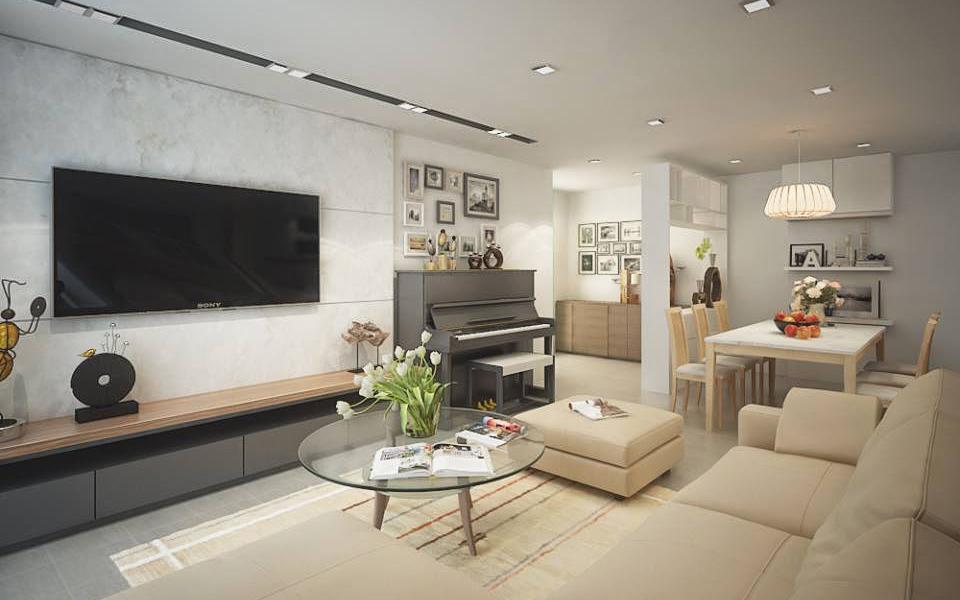 mẫu thiết kế nội thất chung cư nhỏ