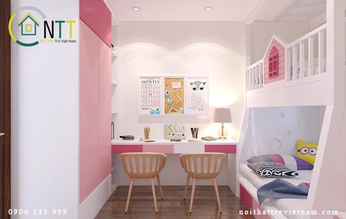 thiết kế nội thất phòng ngủ nhỏ cho căn hộ 50m2