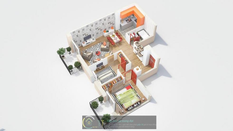 Dành cho những chung cư không vuông vắn