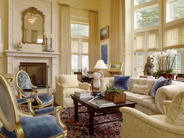 Tấm thảm màu tối sẽ phù hợp với không gian cổ điển