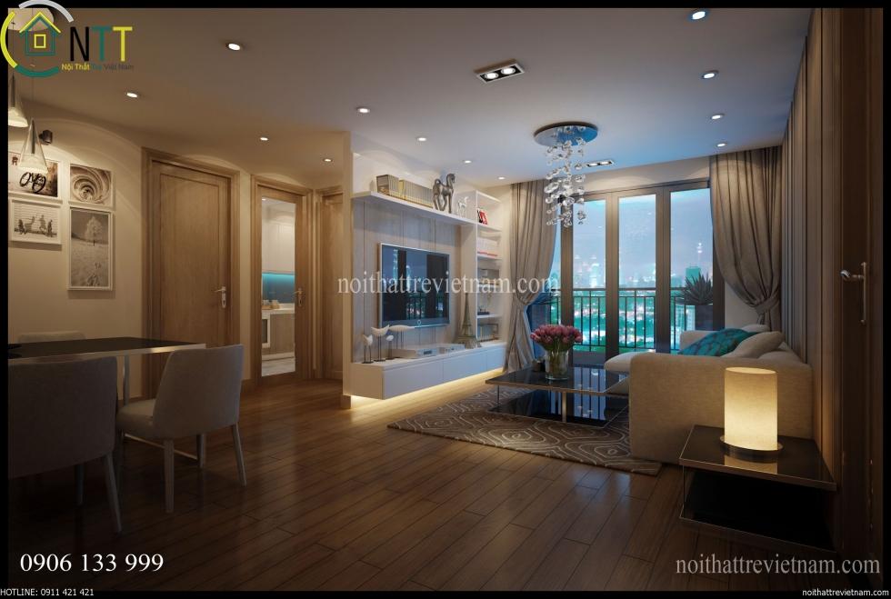 Tổng quan thiết kế nội thất nhà chung cư đẹp anh tiến