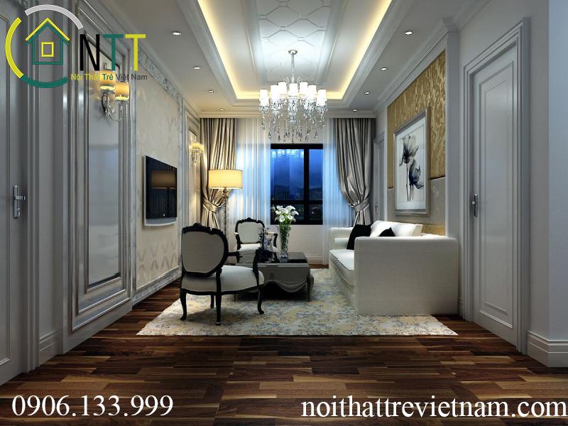 Một thiết kế phòng khách chung cư 70m2 của anh lâm
