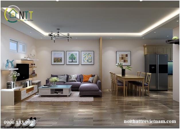 thiết kế nội thất nhà chung cư chị trang